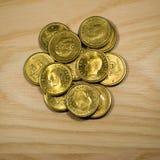 Szwedzkie złote monety zdjęcie stock