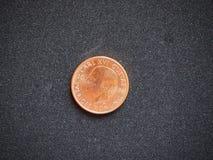 2 Szwedzkiego krona monety Sverige Kronor tylna strona odizolowywająca na czarnym tle zdjęcie royalty free