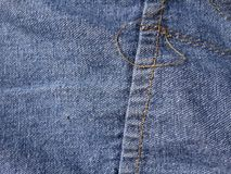 Szwu cajgu tekstura Fotografia Stock