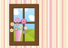 szwy okno Zdjęcie Royalty Free