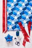 Szyć kołderka z stylizowanymi elementami flaga amerykańska Zdjęcie Royalty Free