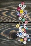 szyć guzików Zdjęcie Royalty Free