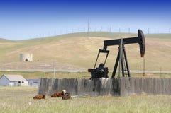 Szyb naftowy pompa Obrazy Royalty Free