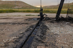 Szyb Naftowy, Turcja Zdjęcie Stock