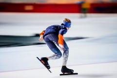 Szybka działająca atleta łyżwiarka Zdjęcie Royalty Free