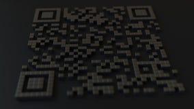 Szybka odpowiedź lub QR kod z funtowego szterlinga znakiem Nowożytnego fintech powiązana 3D animacja zbiory