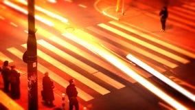 Szybka przejażdżka w mieście przy nocą zdjęcie wideo