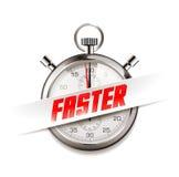 Szybki - biznesowy pojęcie - czas biega ilustracji
