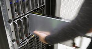 Szybki działania IT konsultant w przedsięwzięcia datacenter obraz stock