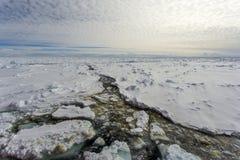 Szybki lód w Antarktycznym Zdjęcie Stock