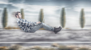 Szybki levitating biznesmen obrazy royalty free