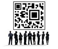 Szybki odpowiedź kodu Cyfrowych dane metki pojęcie Obraz Royalty Free