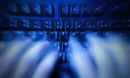 szybki pisać na maszynie Zdjęcia Stock