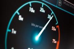 Szybki połączenie z internetem Zdjęcia Stock