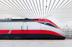 Szybki pociąg w Włochy Zdjęcie Royalty Free