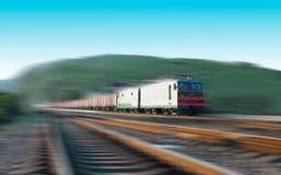 Szybki pociąg towarowy Fotografia Stock