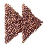 'Szybki przedni' symbol od kawowych fasoli Zdjęcie Stock