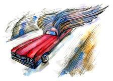 Szybki samochód Zdjęcia Royalty Free