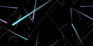 Szybki skutek Ruch Neonowy bezszwowy wzoru usterka ilustracja wektor