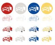 Szybki sporta skrzyżowanie, CUV Obrazy Royalty Free