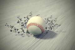 Szybki toczny baseball ilustracja wektor