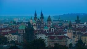 Szybki wieczór w Praga Czasu upływ 4K zdjęcie wideo