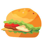 Szybkie żarcie - fast food - hamburger przedstawiający Zdjęcia Royalty Free