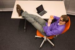 Szybkie żarcie w biurowej pracie Obrazy Stock