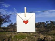 szybkie serce listu miłości fotografia royalty free