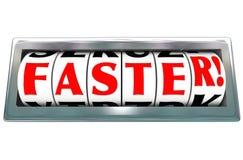 Szybkiego słowo drogomierza prędkości postu Szybki Ścigać się ilustracja wektor