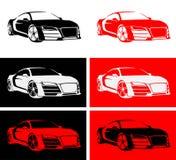 Szybkiego samochodu logo Zdjęcia Stock