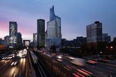 Szybkiej prędkości miasta ruch drogowy Obrazy Royalty Free