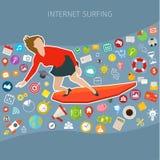 Szybkiej prędkości interneta mobilny surfing Obrazy Royalty Free