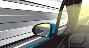 Szybkiej przejażdżki i tylni widoku lustro Fotografia Stock