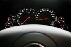 Szybkościomierza samochód wyścigowy Fotografia Royalty Free