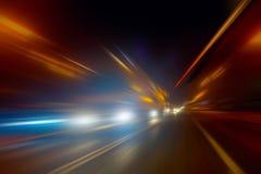 Szybkościowy ruch przy nocą Zdjęcia Stock