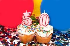 szybko się zwiększać świętowania confetti babeczkę Obraz Stock