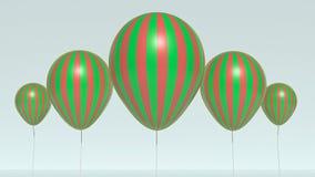 Szybko się zwiększać 3d rendering Zdjęcie Royalty Free