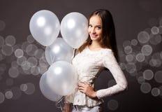 szybko się zwiększać pracownianej białej kobiety Obraz Royalty Free