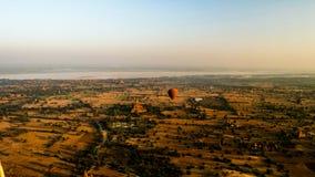 Szybko się zwiększać w świcie nad Bagan, Myanmar Obraz Royalty Free