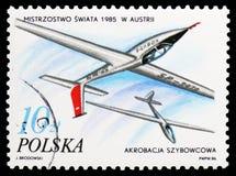 Szybowcowe akrobacje, Wiedeń, J Makula, sukcesy Polscy sportowowie w 1985 seria około 1986, obraz royalty free