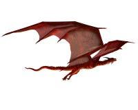 szybownicza smok czerwień ilustracji