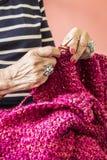 szydełkować rąk Fotografia Stock