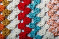 Szydełkowa tkanina różni kolory Fotografia Royalty Free