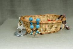 Szydełkowi handmade koraliki z breloczek rozgwiazdą Obraz Royalty Free