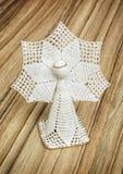 Szydełkowy boże narodzenie anioł Fotografia Stock