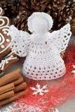 Szydełkowy Bożenarodzeniowy anioł obraz stock