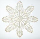 Szydełkująca koronka na bielu Fotografia Royalty Free