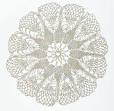 Szydełkująca koronka na bielu Zdjęcie Stock