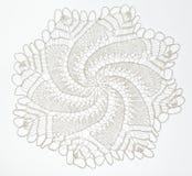 Szydełkująca koronka na bielu Obraz Royalty Free